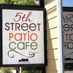 5th Street Patio Cafe Sign