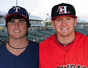 Luke Jackson (left), and Ryan Rua are the latest top prospects to join the Rough Riders.