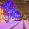 christmas in the square - frisco square - covered in ice
