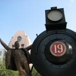 Frisco City Hall Train Sculpture