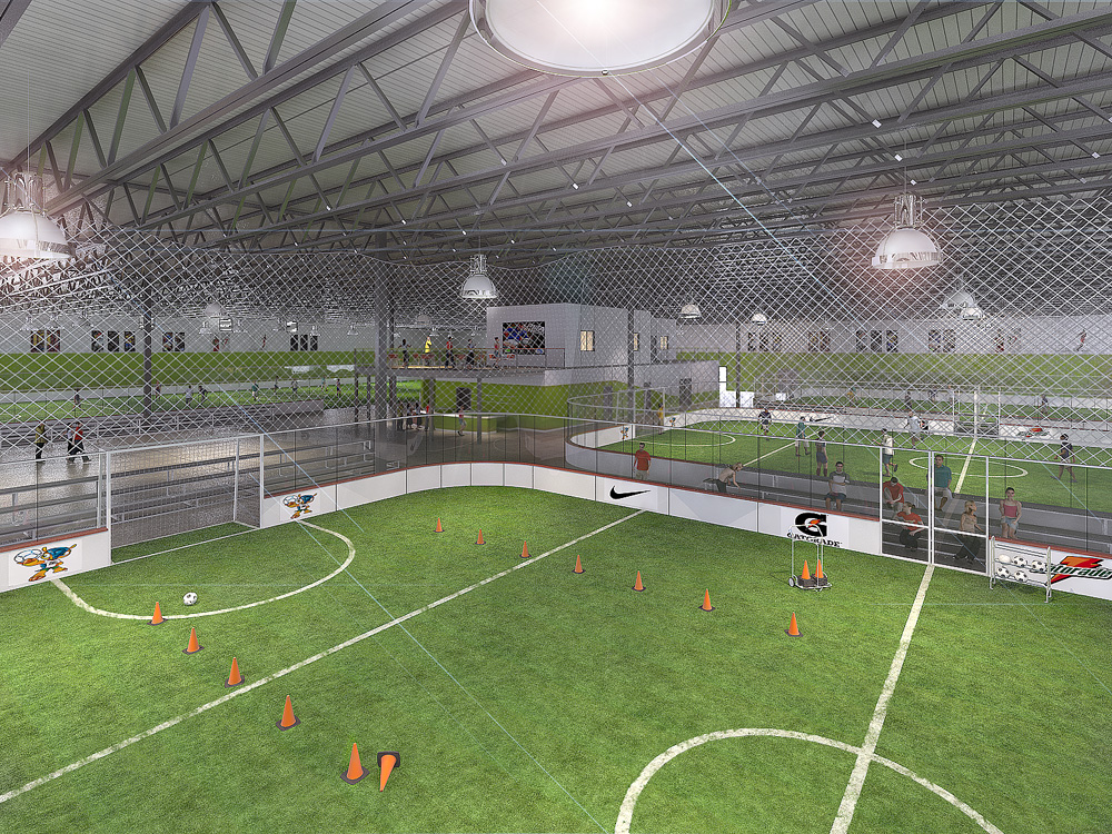 New 56 000 square foot soccer facility to break ground in for Indoor facility design